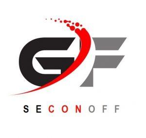 GF Modern Letter Logo Design with Swoosh